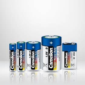 Zinc-carbon batteries CAMELION