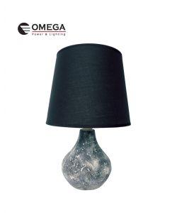 מנורת שולחן מעוצבת שקמה שחור