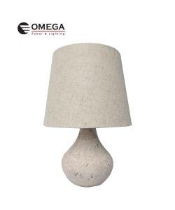 מנורת שולחן מעוצבת שקמה קרם